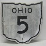 Original 1940s OHIO road shield sign route (Image source: Ebay]